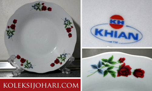 K037 Pinggan makan saiz 9 inci Two RosesRM 10.00 per piece (6 pcs available)